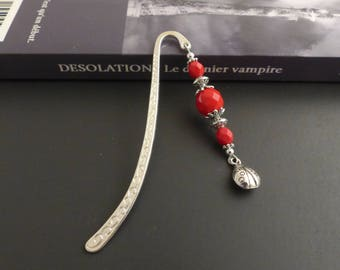 Bookmark metal red and her Ladybug metal silver