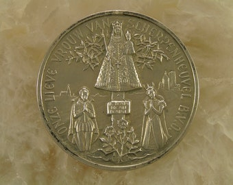 Religious Catholic pewter plaque of our Lady of Montague.