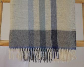 100% Premium Baby Alpaca Throw , Stripe Design , no Synthetics