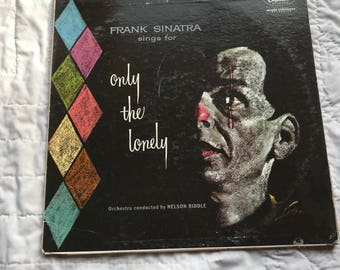 Frank Sinatra Sings For Only The Lonely Vinyl Stereo Music 33LP Album W1053 Capitol Records Vintage 1960s lcww
