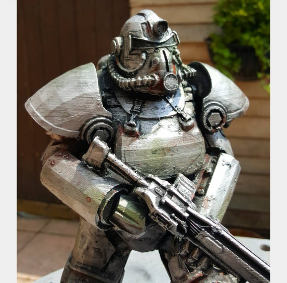 95 Fallout T 51b Power Armor Free Papercraft Download T 51b Power