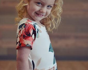 Girl's Floral Dress - Girl's Maxi Dress, Girl's Floral Dress, Vintage Maxi Dress