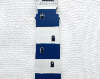 Lighthouse Ornament - Lighthouse Christmas Ornament - Blue and White Lighthouse Ornament - Lighthouse Decor - Lighthouse Gift - Beach Gift