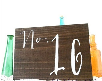 Wedding Table Numbers, Wooden Table Numbers Wedding, WOOD TABLE Numbers - Single table number - TB-23