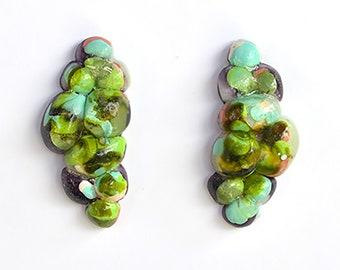 Resin Grape Bubble Studs-Handmade Unique Design, Surgical Steel- Assorted Colours