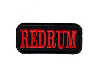 Redrum  iron on patch