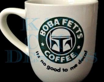 Boba Fett Coffee Cup Star Wars