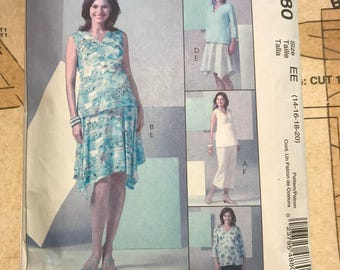 Womens Maternity Skirt Top Pant Sewing Pattern Mccalls 4880 M4880 Sewing Pattern  Size 14 16 18 20 Maternity Pregnancy Length Options Formal