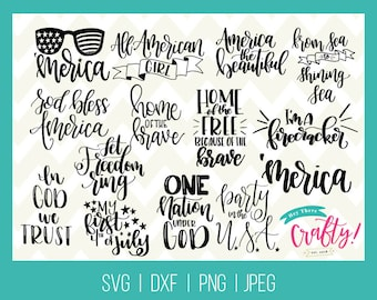 4th of July Bundle SVG DXF PNG jpg // Fourth of July svg, dxf America svg, dxf  instant download for Cricut or Silhouette