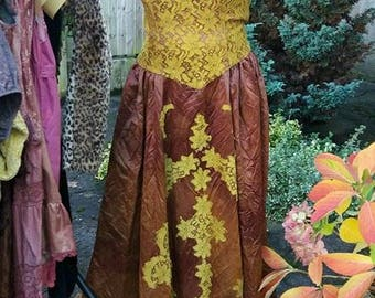 Larp handfasting wiccan pagan prom goddess gown