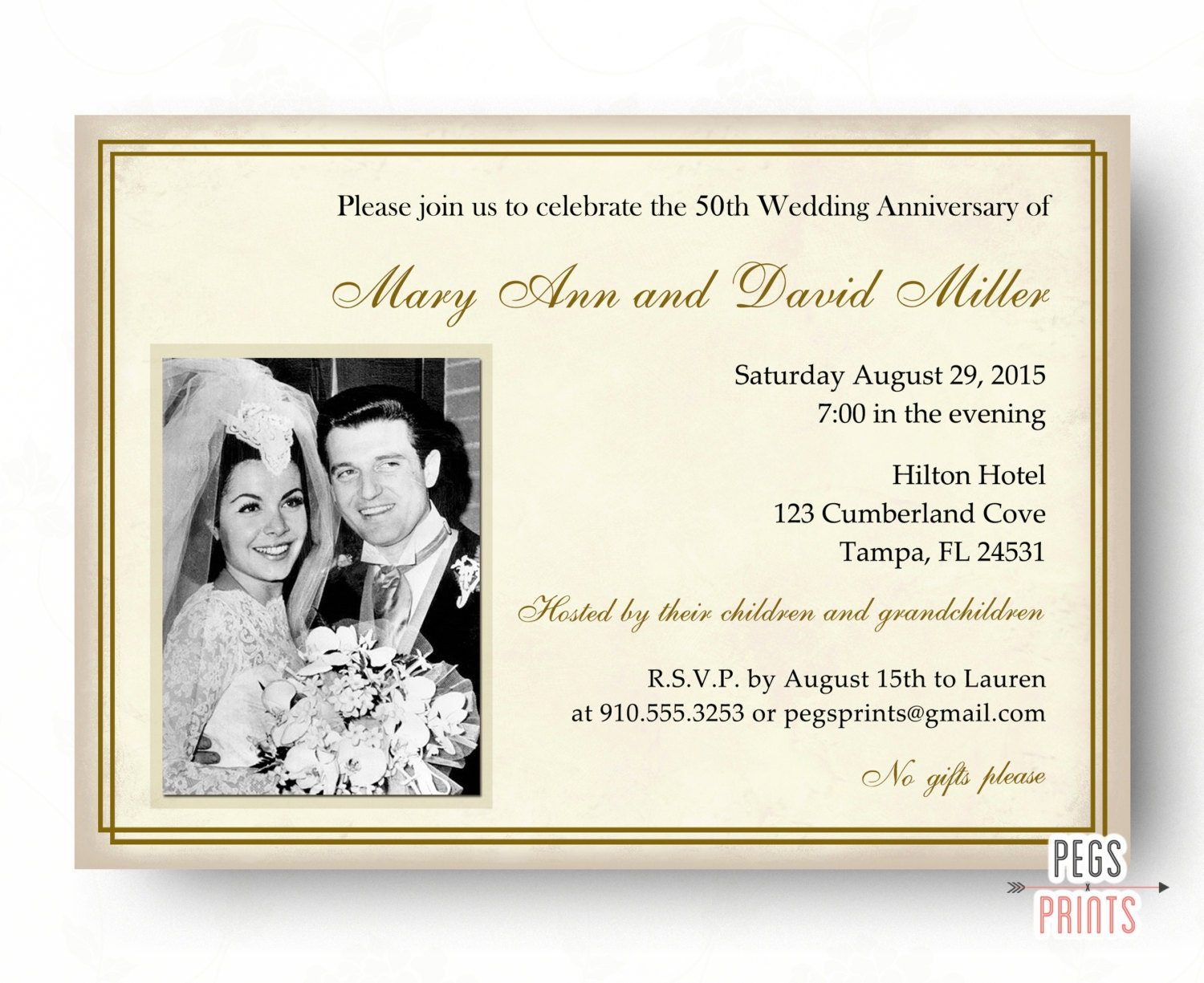 50th Wedding Anniversary Invitations 50th Anniversary