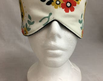 Organic Cotton Jackalope Sleep Mask & Case Set, Eye Mask, Travel Mask, Sleeping Mask