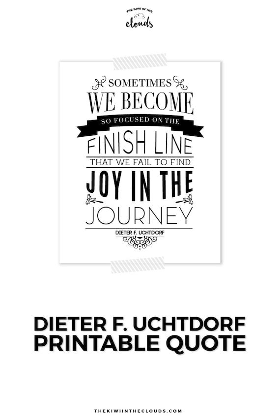 Lds Quote Mormon Quote Uchtdorf Quote Printable Art Black