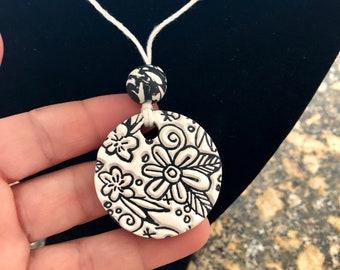 Meadow~Terracotta glazed Pendant
