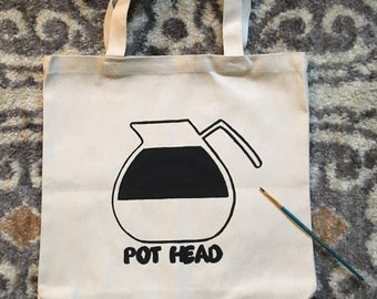 Pot Head Canvas Tote