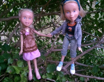 Sam and Ellie Dolls - Recycled Restyled Bratz OOAK One of a kind - by Best Friend Dolls Store