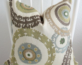Taraz Spring Suzani Medallion Pillow Cover