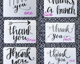 Thank You Card - Blank Thank You Card , Thank You , Handmade Thank You , Thank You Card Set