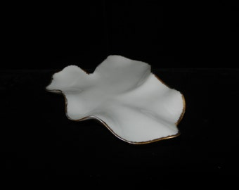 Vintage Limoges Dish - White With Gold Trim