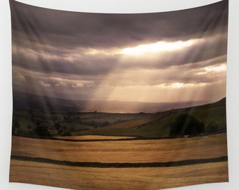 Landscape tapestry, office decor, nature wall art, photo tapestry, wall hanging, rustic decor, oversized art, outdoor tapestry, countryside