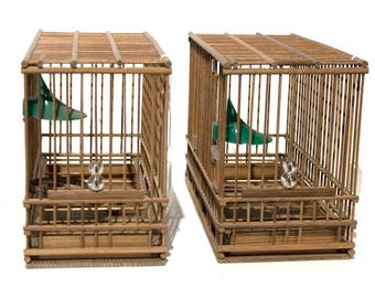 Wooden Birdcages - FREE SHIPPING