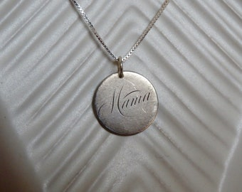 Antique 1882 Dime Love Token Pendant Mama