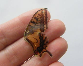 2 Butterfly wing charms resin A670