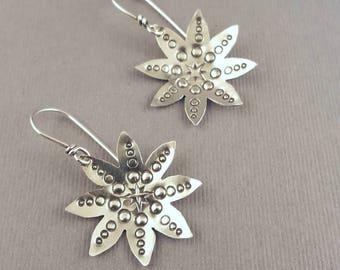 Industrial Flower Earrings