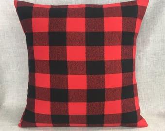 Buffalo Plaid Pillow Cover Woodland Nursery Baby Boy Decor Buffalo Check Pillow  Lumberjack Rustic Decor Throw Pillow