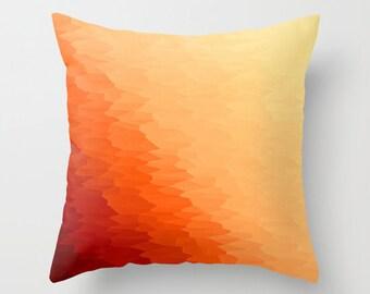 Pillow Cover, Orange Throw Pillow, Orange Pillow, Orange Toss Pillow, Bedroom Decor, Orange Home Decor, Orange Pillow, Orange Ombre PIllow