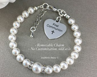 First Communion Gift Goddaughter Gift Swarovski Bracelet Goddaughter Jewelry Bracelet Gift from Godmother Religious Jewelry Gift for Her