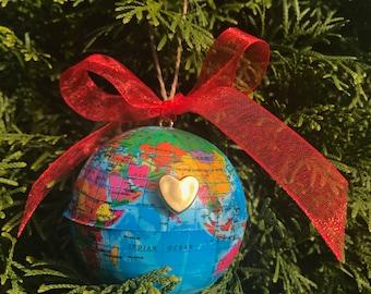 Globe Ornament with twine