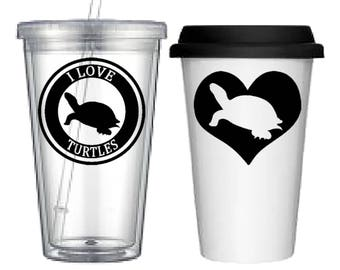 Cup:Turtle(4 designs to choose from!)