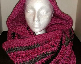 Ultra Bulky Pink Cowl and Fingerless Gloves Set