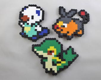 Pokemon Starters Gen 5 Unova Region Magnets | Perler Beads