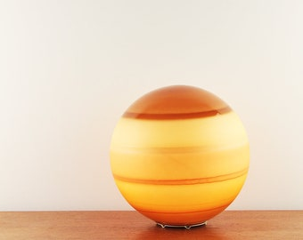 Funky vintage coloured glass globe table lamp - Made in Germany - ca. 1970s