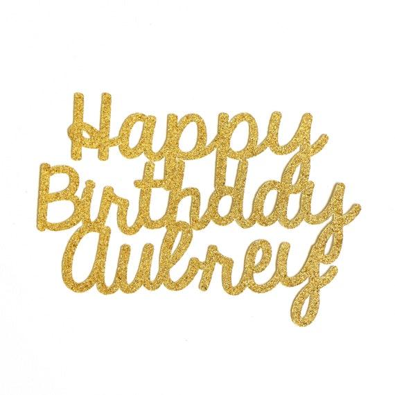"1 x Custom Happy Birthday 6""- 10"" First Birthday. Party Decor. Tabletop Decor. Wall Decor. Birthday Photo Booth Props. Birthday Party Favors"