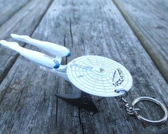 Star Trek keychain, U.S.S. Enterprise A, NCC-1701, Movie Star Trek Beyond, Mens or Womens keychain, Mens or Womens gift Stocking