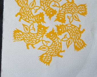 Year of the Rooster original print