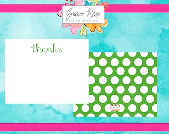 Personalized Flat Note Cards, Note Cards With Envelopes, Note Cards Handmade, Note Cards, Note Cards for Women, Monogrammed Note Cards