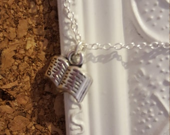 Open Book Necklace Cute freat for any book lover.