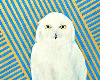 SALE - Chester the Owl- print of original illustration