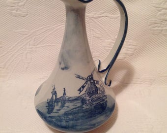 """Vintage """"Windmill"""" jug style Delft / / made in France"""