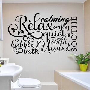 Bathroom Wall Quotes | Etsy
