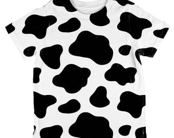 Dairy Cow Pattern All Over Toddler T Shirt