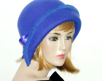 1920's Custom Convertible 3 in 1 cloche - Downton Abbey hat, Miss Fisher, Great Gatsby hat