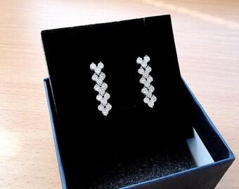Wedding Earrings Bridal Earrings Wedding Jewelry Dangle Earrings Bridal Jewelry Silver Earrings Bridesmaid Earrings Stud Earrings Bride Gift