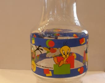 Vintage Looney Tunes 54 oz. Glass Chiller Made by Anchor Hocking