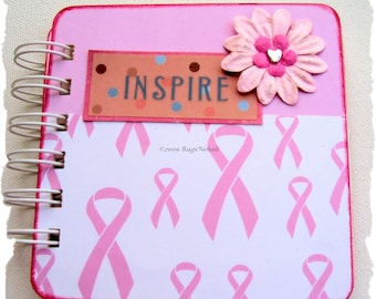 Inspire - Breast Cancer Awareness Post It Note Holder Planner