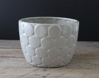Gray Geometric Planter Flower Pot